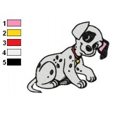 101 Dalmatians 01 embroidery design