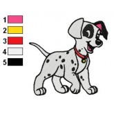 101 Dalmatians 02 embroidery design