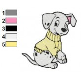 101 Dalmatians 100 embroidery design