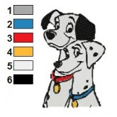 101 Dalmatians 51 embroidery design