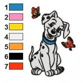 101 Dalmatians 83 embroidery design