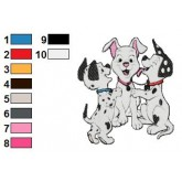 101 Dalmatians 90 embroidery design