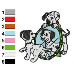 101 Dalmatians 97 embroidery design