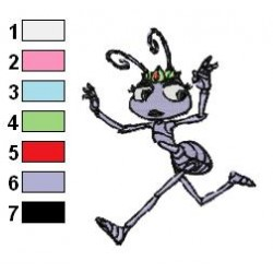 A Bugs Life 05 embroidery design