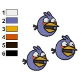 Angry Birds Embroidery Design 04