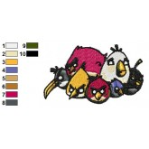 Angry Birds Embroidery Design 21