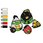 Angry Birds Embroidery Design 53