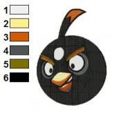 Angry Birds Ready for Boom Embroidery Design 02