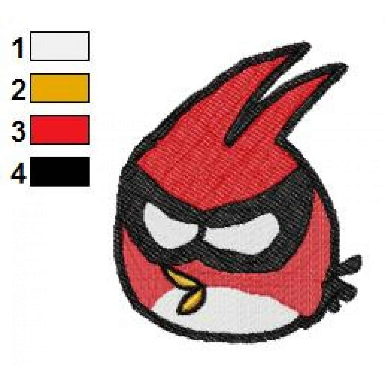 Angry birds space embroidery design 04 for Space embroidery designs