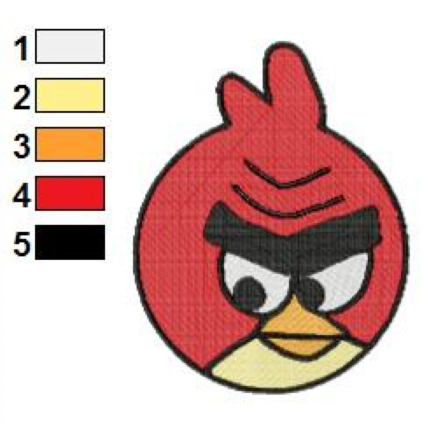 Angry birds space embroidery design 15 for Space embroidery patterns