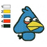 Angry Birds blue Goomba Embroidery Design