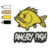 Angry Fish Embroidery Design