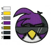 Angry Ideas Purple bird Embroidery Design