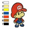 Baby Mario Embroidery Design