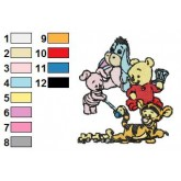 Baby Pooh 13 embroidery design