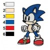 Baby Sonic Embroidery Design