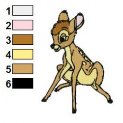 Bambi 13 embroidery design