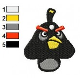 Black Goomba Angry Bird Embroidery Design