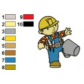 Bob the Builder 13 embroidery design