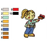 Bob the Builder 16 embroidery design