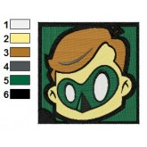 Boy Green Lantern Embroidery 02
