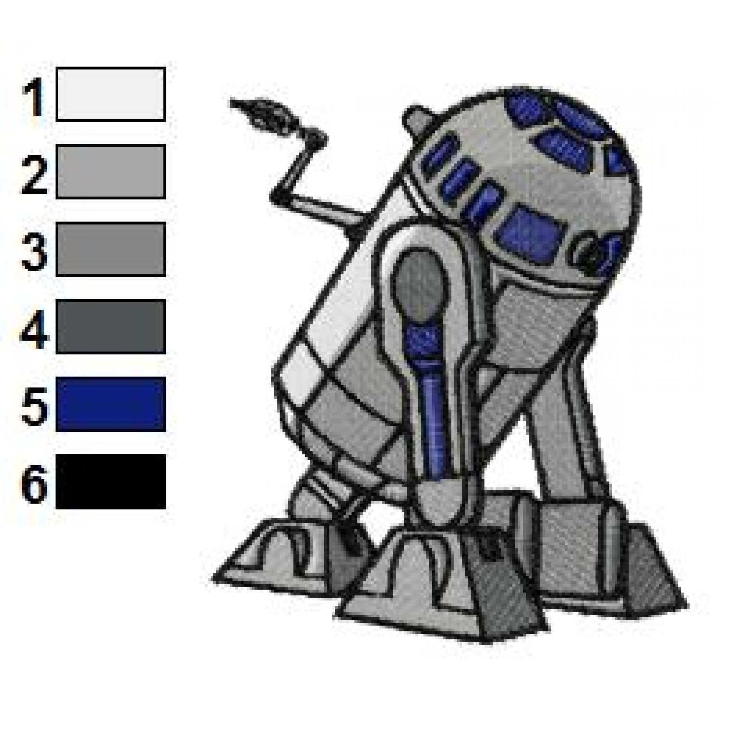 CWR2 Star Wars Embroidery Design