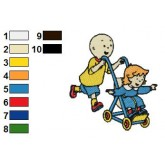 Caillou 05 embroidery design