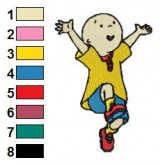 Caillou 08 embroidery design