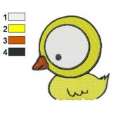 Cartoon Baby Duck Embroidery Design