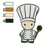 Chef Doll Embroidery Design