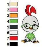 Chicken Little 08 embroidery design