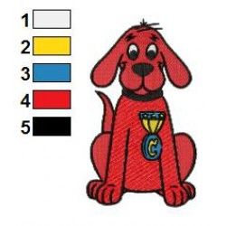 Clifford the Big Red Dog 07 embroidery design