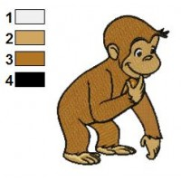 Curious George 01 embroidery design