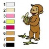 Curious George 03 embroidery design