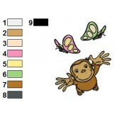 Curious George 04 embroidery design