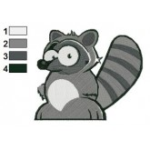 Cute and Funny Raccoon Embroidery Design