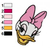 Daisy Duck 02 embroidery design