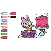 Daisy Duck 08 embroidery design