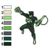 Daredevil Green Lantern Embroidery Design