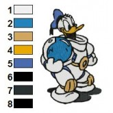 Donald Duck 01 embroidery design
