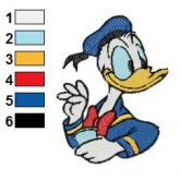Donald Duck 15 embroidery design