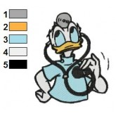 Donald Duck 16 embroidery design