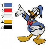 Donald Duck 18 embroidery design