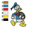 Donald Duck 22 embroidery design