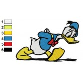 Donald Duck 24 embroidery design