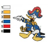 Donald Duck 26 embroidery design