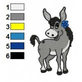 Donkey Holding Flower Embroidery Design