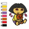 Dora The Explorer Embroidery Design 09