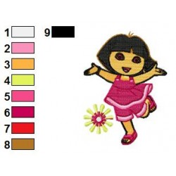 Dora The Explorer Embroidery Design 15