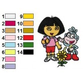 Dora the Explorer 01 embroidery design